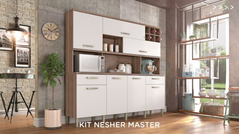 Kit Cozinha Master - Nesher 7pts 2gav NG/BR